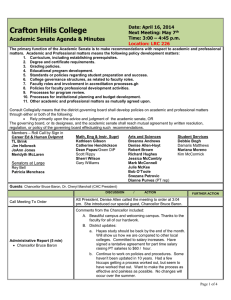 Crafton Hills College Academic Senate Agenda & Minutes Date: April 16, 2014