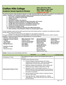 Crafton Hills College Academic Senate Agenda & Minutes Date: April 2nd, 2014
