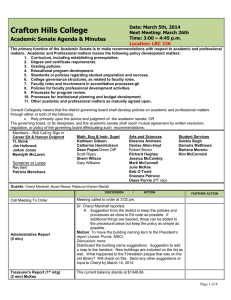 Crafton Hills College Academic Senate Agenda & Minutes Date: March 5th, 2014