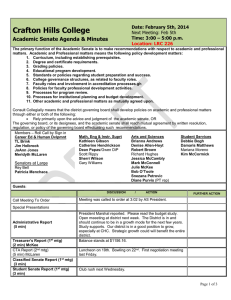Crafton Hills College Academic Senate Agenda & Minutes Date: February 5th, 2014