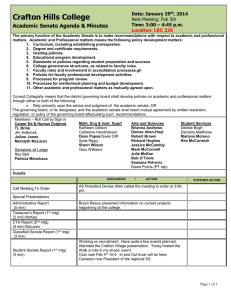 Crafton Hills College Academic Senate Agenda & Minutes Date: January 29 , 2014