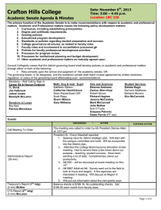 Crafton Hills College Academic Senate Agenda & Minutes Date: November 6 , 2013