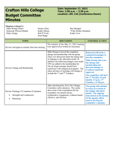 Crafton Hills College Budget Committee Minutes Date: September 17, 2013