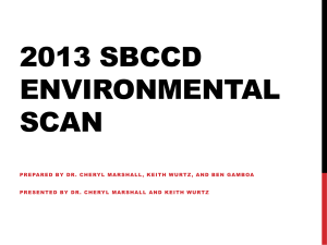 2013 SBCCD ENVIRONMENTAL SCAN