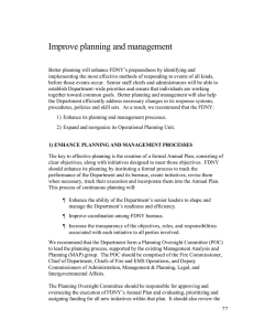 Improve planning and management
