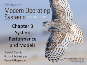 Chapter 3 System Performance and Models