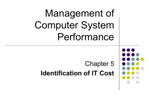 Management of Computer System Performance Chapter 5