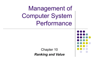Management of Computer System Performance Chapter 10