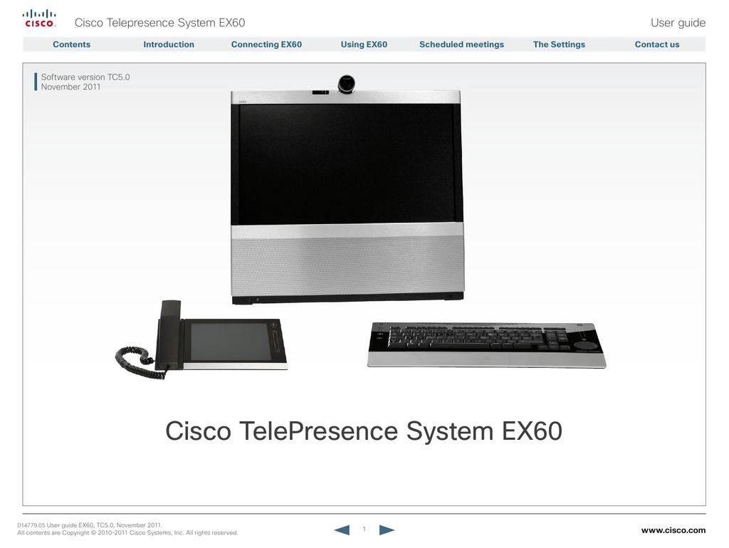 cisco telepresence system user guide free owners manual u2022 rh wordworksbysea com Cisco EX90 Manual cisco telepresence ex60 administrator guide