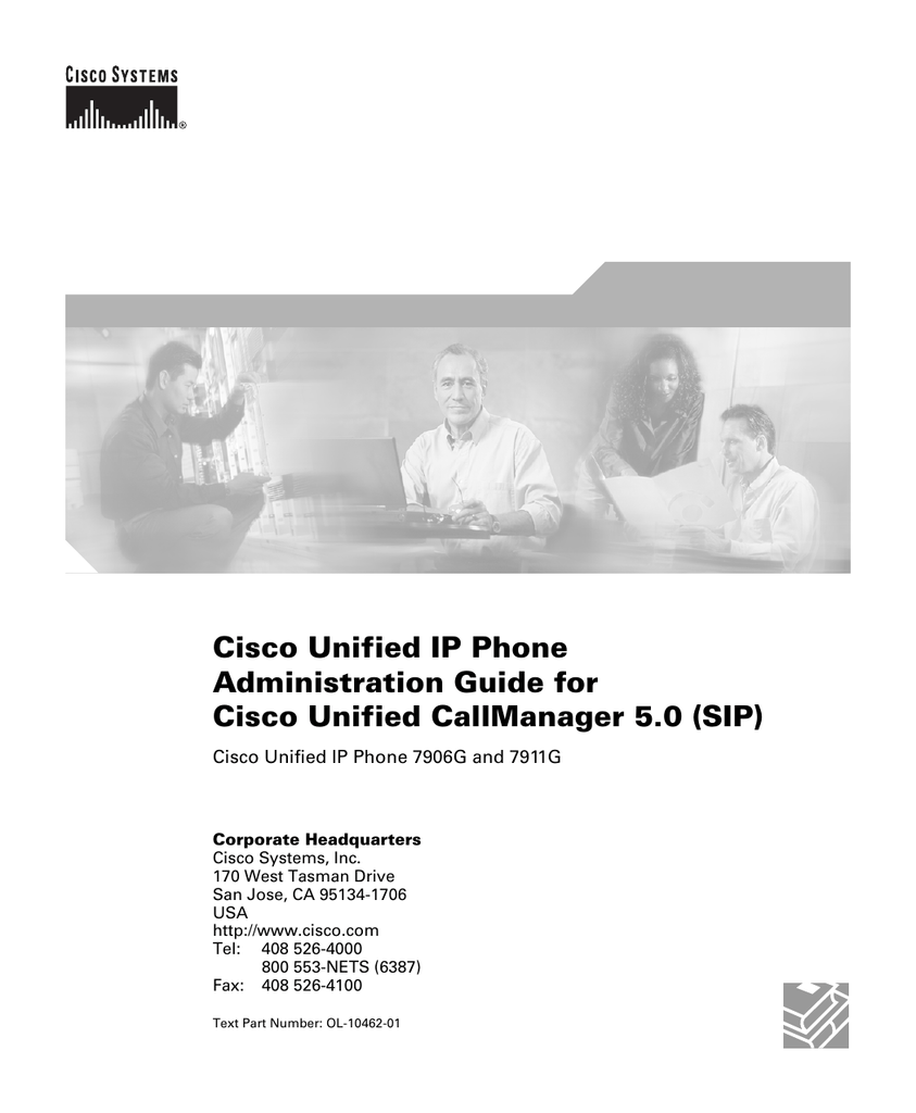 Cisco Unified IP Phone Administration Guide for Cisco Unified