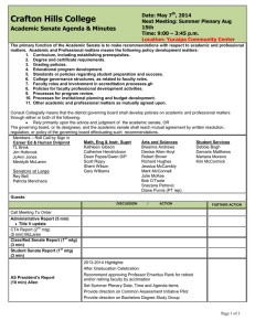 Crafton Hills College Academic Senate Agenda & Minutes Date: May 7 , 2014