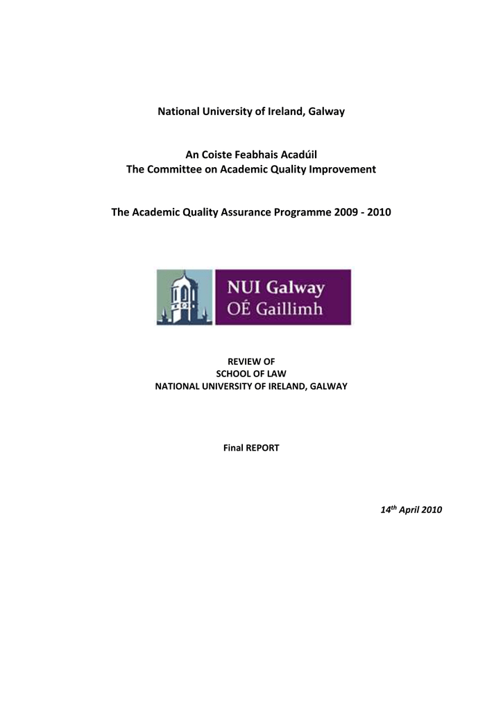 Law and Human Rights - NUI Galway