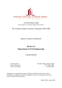 Review of Department of Civil Engineering The Academic Quality Assurance Programme 2005-2006