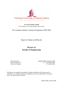 Review of Faculty of Engineering The Academic Quality Assurance Programme 2005-2006