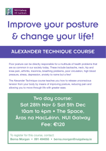 Improve your posture & change your life! ALEXANDER TECHNIQUE COURSE