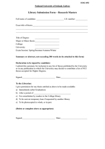 Library Submission Form – Research Masters