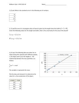 Midterm Quiz—PHYS 203-1R  Name______________________________
