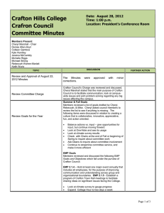 Crafton Hills College Crafron Council Committee Minutes Date:  August 28, 2012