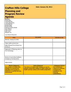 Crafton Hills College Planning and Program Review Agenda
