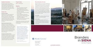 About Brandeis University Academic Excursions Program Dates