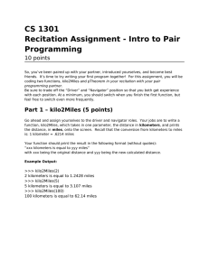 CS 1301 Recitation Assignment - Intro to Pair Programming 10 points