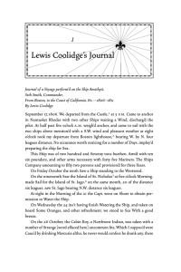 1 Lewis Coolidge's Journal
