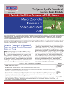 Major Zoonotic Diseases of Sheep and Meat Goats