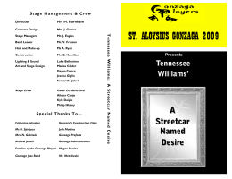 an analysis of the complexity of the main characters in a streetcar named desire a play by tennessee - the character of stanley in a streetcar named desire a streetcar named desire, by tennessee williams, is a classical play about blanche dubois's visit to elysian fields and her encounters with her sister's barbaric husband, stanley kowalski.