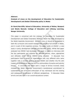 Abstract Analysis of views on the development of Education for Sustainable