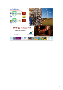 Energy Research Connecting agendas 1 16/12/2009