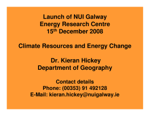 Launch of NUI Galway Energy Research Centre 15 December 2008