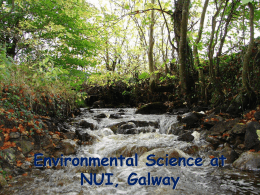 Environmental Science at NUI, Galway
