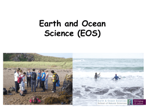 Earth and Ocean Science (EOS)