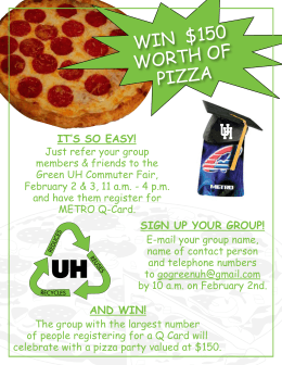 win  $150 worth of pizza