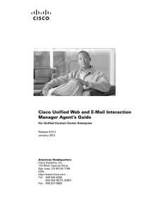 Cisco Unified Web and E-Mail Interaction Manager Agent's Guide