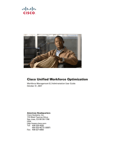 Cisco Unified Workforce Optimization