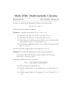 Math 2720: Multiviariable Calculus Homework #3 Due Tuesday, January 20