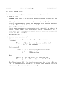 Apr 2006 Selected Problems, Chapter 6 Math 230(Mackey) λ