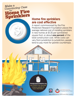 Home Fire Sprinklers Home fire sprinklers are cost effective