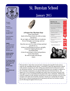 St. Dunstan School  January 2015 A Prayer For The New Year