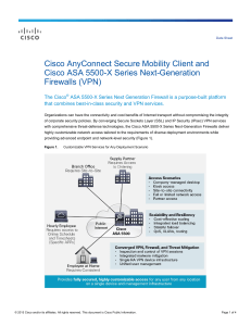 Cisco AnyConnect Secure Mobility Client and Cisco ASA 5500-X Series Next-Generation