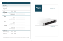 Networking Worksheet  QUICKSTART GUIDE Cisco IronPort Email Security Appliance