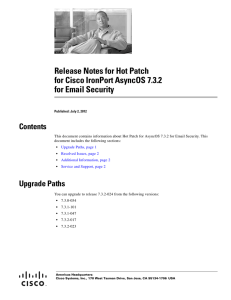 Cisco IronPort AsyncOS 7 1 for Email Configuration Guide