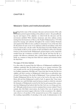 M Messianic Claims and Institutionalization 1