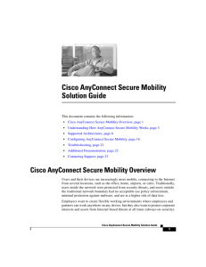 Cisco AnyConnect Secure Mobility Solution Guide