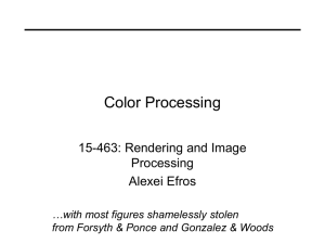 Color Processing 15-463: Rendering and Image Processing Alexei Efros
