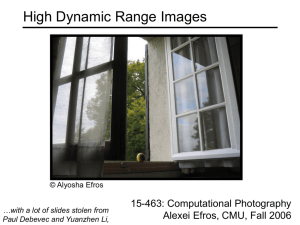 High Dynamic Range Images 15-463: Computational Photography Alexei Efros, CMU, Fall 2006
