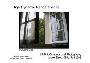 High Dynamic Range Images 15-463: Computational Photography Alexei Efros, CMU, Fall 2008