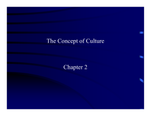 The Concept of Culture Chapter 2
