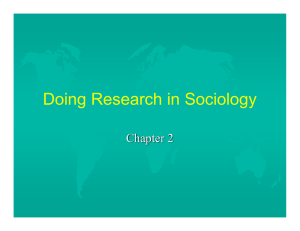 Doing Research in Sociology Chapter 2